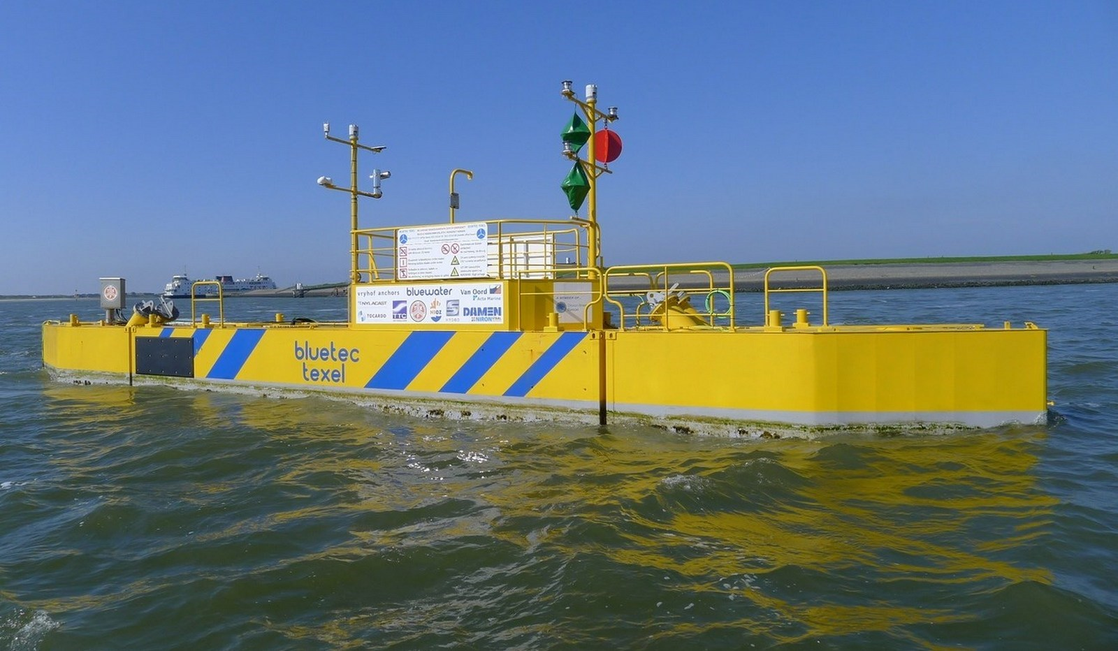 Floating tidal energy platform can supply clean energy to islands and remote locations