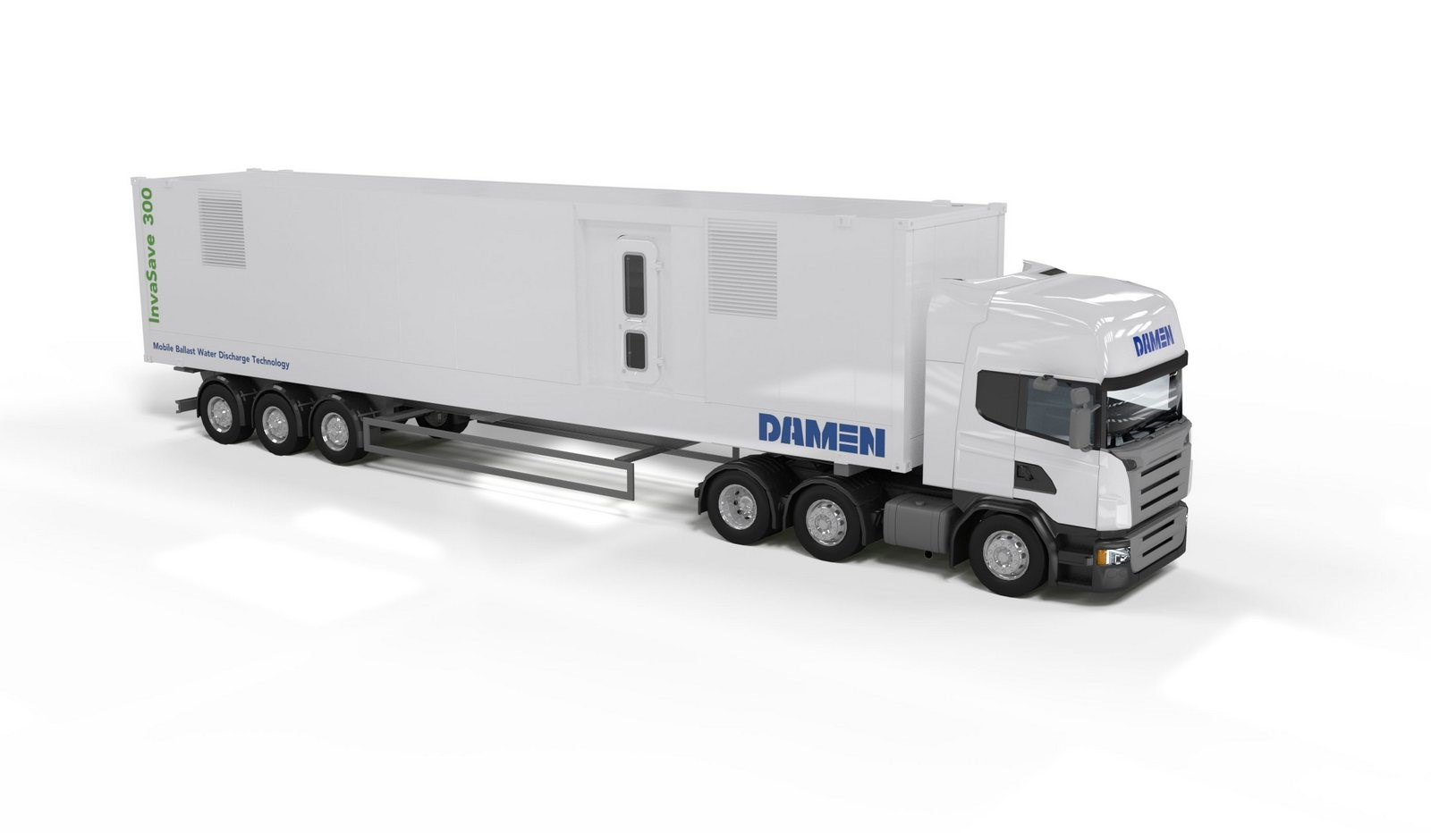 Damen can deliver the system as a self-sufficient mobile container